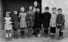 Class Photo (theirhistory) Tags: children boys kids girls school class group form jumper shorts coat jacket shoes wellies teacher boots