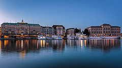 Blue twilight (PhredKH) Tags: architecture buildings canonphotography city cityscene cityview cityscape fredknoxhooke fredkh photosbyphredkh phredkh splendid stockholm sweden swedish travelphotography traveltostockholm traveltosweden reflection reflections scenicwater sky water