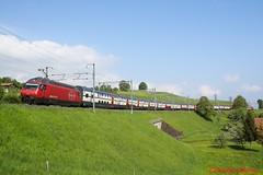 SBB Re 460 073 (Bradley Morey) Tags: sbb cff ffs re 460 ic2000 vu iv slm ic intercity spiez einigen bern brig bls lötschberg thun thunersee trainspotting schweiz suisse switzerland
