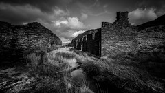 Remains of the day .... (Einir Wyn Leigh) Tags: landscape mono industry wales cymru dwelling slate outside walking light blackandwhite