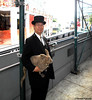 Dr. Takeshi Yamada and Seara (Coney Island sea rabbit). Brooklyn, New York.  20160702Sat. Chelsea. DSCN7228=p6060C3x (searabbit30) Tags: takeshiyamada fineartexhibitions museumcollections famous japanese japaneseamerican artist osaka tokyo japan tv painting sculpture photography graphicdesign sideshow freakshow banner gaff performance fashiondesign fashion tophat jabot jewelrydesign victorian gothic goth steampunk dieselpunk fashiondesigner playboy bikini roguetaxidermist roguetaxidermy taxidermist taxidermy specialeffect cabinetofcuriosities dimemuseum seara searabbit coneyisland mythiccreature cryptozoology cryptid brooklyn newyorkcity nyc newyork