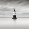 Long Exposure study 4 (Paul Evans.) Tags: lighthouse sea water fine art long slow exposure nd grad graduated filter neutral density beach mono black white bw nikon d850 paul evans