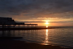 Copper sunset (karen leah) Tags: pier sunset aberystwyth ceredigion cardiganbay dusk twilight outdoors sea shore clouds sky beauty nature march copper