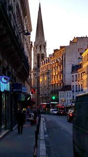 524 Paris en Février 2018 - coucher de soleil rue de Belleville