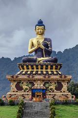 Large Gautama Buddha statue in Buddha Park of Ravangla, Sikkim (Subhrajyoti Saha) Tags: ravangla sikkim buddha park buddhapark largegautamabuddhastatueinbuddhaparkofravanglasikkim