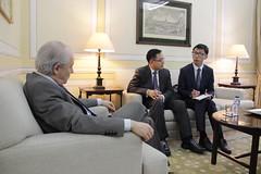 Rui Rio em reunião com Embaixador da China