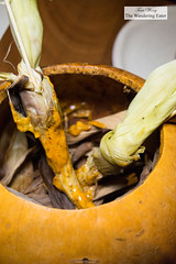 Baby corn covered in mayonnaise made with chicatana ants, coffee, and chili (thewanderingeater) Tags: pujol mexicocity mexico finedining upscalemexicancuisine theworlds50bestrestaurants chefownerenriqueolvera mexicanhautecuisine polanco