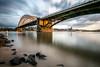 Oude Waalbrug (Maarten Takens) Tags: brug bridge suns nij waa waal rivier ned nederland netherlands clouds