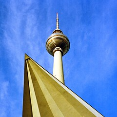 Space Age (karstenphoto) Tags: filming modernist modernism thattoweragain tvtower fernsehturm deutschland germany berlin tessar rolleiflex 400 portra kodak ishootfilm film analog