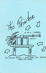 The Printer: The Printer QSL Cards - San Jose, California (73sand88s by Cardboard America) Tags: qsl qslcard cbradio cb vintage california theprinter artistcard