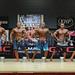 Mens Physique Med 4th Jamie McCormack 2nd Jared Little 1st Ruben Cashina 3rd Matt Beck 5th Najim Omid