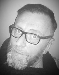 I hope everybody's weekend is going well 🍻🍺🍻🍺... (deanthompson3) Tags: newdoo newhairdoo whiskers beard beards spectacles glasses guy fella man gent gentleman whiteandblack blackandwhite shameless selfie deanthompson thompson dean flickr