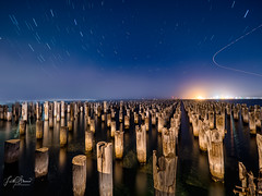 Princes Pier, Melbourne (Laith Stevens Photography) Tags: night stars startrails olympus omd olympusinspired olympusomd outdoor olympusau olympusaustralia omdem1mkii olympusuk olympusflickraward olympusus getolympus citylights streakinglights street structure melbourne australia vivid visitaustralia