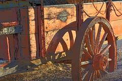 Old wagon (thomasgorman1) Tags: wagon cart nikon mud artsy baja mx desert wood wheel shadow sunlight enhanced colors saturated colorized