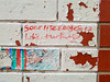 Soar like eagles not like turkeys (Fred:) Tags: walls writing bricks messages graffiti wall painted white brick message phrase thought thinking proverb saying philosophy halifax novascotia write words sharpie funny amusing witty phrases soar like eagles turkeys eagle turkey bird birds oiseaux