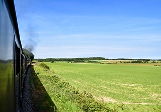 Steaming through the countryside