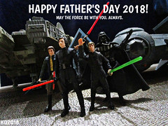 HAPPY FATHER'S DAY 2018! (THE AMAZING KIKEMAN) Tags: star wars fathers day 2018 darth vader luke skywalker kylo ren han solo hasbro action figures adam driver mark hamill harrison ford anakin