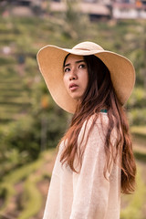 In the fields (SemiXposed) Tags: chiese girl woman outdoors hat bali indonesia vacation holidays sony