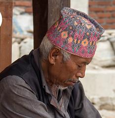 Another resting man (SamKirk9) Tags: nepal kathmandu bhaktapur