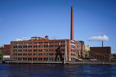 DSC_4360 (vargandras) Tags: building bridge chimney tampere kehräsaari water sky cloud brick suomi finland nikkor 28105mmf3545d