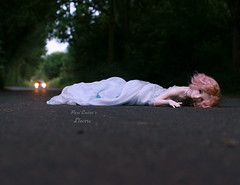 The crawl... (pure_embers) Tags: pure embers bjd sd 13 doll dolls normal skin ns uk supia rosy electra girl supiadoll pureembers emberselectra photography photo ball joint resin angeltoast faceup portrait pink mohair wig spiritdoll outfit road headlights drama crawling