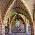 Interior view of medieval ruins. thumbnail
