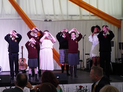Deaf Youth Choir perform at Aras an Uachtarain - Inside the Marquee at the Garden Party June 2018 (sean and nina) Tags: aras an uachtarain irish ireland eire eireann garden party marquee indoors inside tent formal gathering dinner meal entertainment people persons performers performances candid public male female summer june 2018 dublin phoenix park state residence home michael d higgins president tables seated sitting food drink happy colour color colourful colorful white unposed posed posing singing music musicians deaf youth young non hearing sign language signing