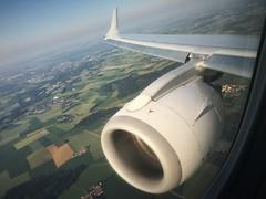 Approaching Munich (roomman) Tags: 2018 warsaw poland flight aviation flights lh dlh lufthansa embraer e190 190 waw epwa muc munich munchen muenchen edmm daebb aebb airport air aerial aereal engine wing transport transportation