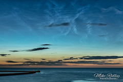 Noctilucent clouds (Mike Ridley.) Tags: nlc noctilucentcloud mikeridley astrophotography astro photographer nature night twilight sonya7rii moon waves sea stars