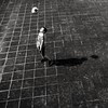 Look at the moon ( serie black texture ) (Jean-Marc Vernier) Tags: ball ballon blackandwhite noiretblanc streetview streetphotography street urban city fujifilm fujixt20