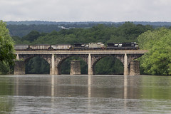 The Heart Attack Special (Eric_Freas) Tags: norfolk southern ns pittsburgh line granville pennsylvania pa y90 juniata river stone arch bridge