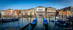 Canal Grande (Magda Banach) Tags: canon canoneos5dmarkiv italy wenecja włochy architecture blue bluesky boats buildings city colors gondolas venice view water canalgrande