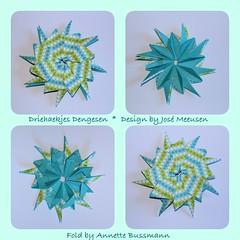 Driehaekjes Dengesen (José Meeusen) 2 (AnkaAlex) Tags: paperfolding papercraft paper paperfoldingart star origamistar origamidecoration josémeeusen modulorigami modul