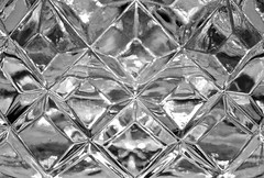 Leaded Crystal (B&W) (Cathy de Moll) Tags: crystal glass waterford symmetry bw blackandwhite sparkle macromondays linesymmetry