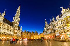 Brussles main square - 123rf stock image (RCVS in pictures) Tags: architecture belgium brussel brussels bruxelles building capital center city cityscape dusk europe evening facade famous gothic government grand grote hall heritage historic history hotel house illuminated landmark lights lit market marketplace markt medifontcolorbluebevabfontl monument night old people place renaissance scene sight square tourism tourists tower town travel twilight