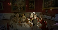 Dinner avec d'Ayen (Sofia ~Chateau D'Esprit~) Tags: candle light véailles vsl 2018 secondlife rp roleplay sl 1750s dinner