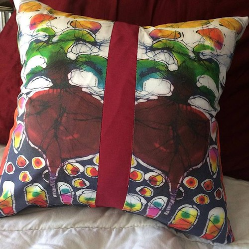 Excited to share the latest addition to my #etsy shop: Garden pillow - Summer Sun on Garden -Throw Pillow - 16.5