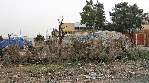 Poor dwellings in Borama