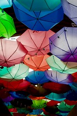 Colourful Umbrellas - Tooting Broadway - London (Sandrine Vivès-Rotger photography) Tags: umbrellas tootingbroadway tooting london colours ceiling happy market colourful couleurs marche londres