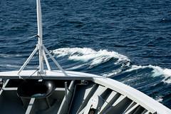 the roll of the sea... (e-box 65) Tags: sea ship lofoten waves blue norway nikon d7200 18 105 vestfjord bodø nordland water