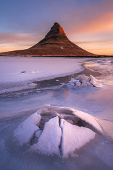 Ring of Gold (_salomax) Tags: alpenglow clouds ice iceland kirkjufell landscape mountain noperson sunrise winter