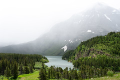 Many Glacier Mountain Fog (Kevin VanEmburgh Photography) Tags: explore glacier glaciernationalpark kevinvanemburghphotography montana mountains nationalpark nature travel fog mountain lake water green greenlandscape storm manyglacier beautiful calm serene