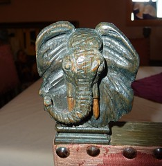 Elephant finial (Martellotower) Tags: elephant finial chairs barn owl seton hall staithes north yorkshire wooden carving