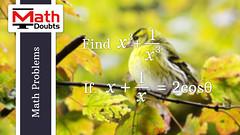 Algebra Trigonometry Problem (Math Doubts) Tags: algebra trigonometry mathematics mathproblem