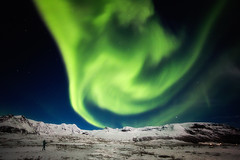 interaction (yan08865) Tags: iceland aurora night winter snow mountain nature borealis travel moonnight moon solo pavlis northern landscapes sky stars light photographers canon wide angle
