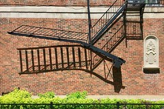 Montréal fire escape with shadow (designwallah) Tags: canada quebec montreal shadow monklandvillage