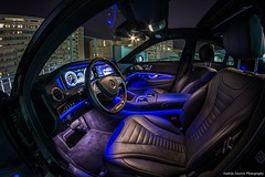 Mercedes S Class interior by night (Andrija Zecevic Photography) Tags: canon 700d samyang 8mm interior mercedes s class night longexposure photooftheday photoofthenight blue
