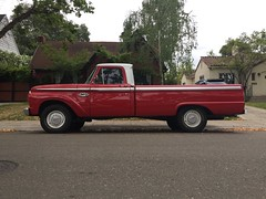 American Red (misterbigidea) Tags: vintage ford 1968 urban suburbs house beauty neighborhood americana parking street parked red classic pickup truck hotwheels