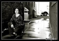 Katie 2 - 8  3-6-04 550pix (Nativeagle) Tags: arizona portrait film blackwhite alley nikon photoshoot native modeling katie photoblog flagstaff navajo nikonf5