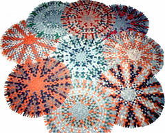 Wheel rugs made by Mom Christmas 1999 edited (Martin LaBar) Tags: from old floor handmade rug coats rugs braided handartcraft